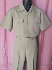 USN-KHAKI  UNIFORM - SHIRT SIZE ML,PANTS (34-35) R - CNT CLOTH (100% POLYESTER)