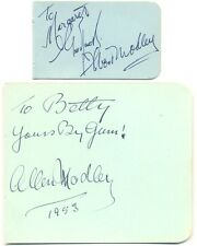 Albert & Allen Modley signed autograph book page 1953 British comedians brothers