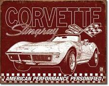 Corvette Stingray 1969 American Performance USA  Metall Schild Plakat