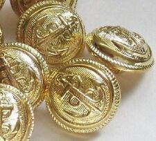"""Gold ANCHOR Picture Set 14 Vintage New Buttons 3/4"""""""