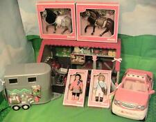 New Lori Horse Stable Mega Set w Stable, Horses, Truck, Trailer, & Dolls