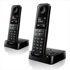 PHILIPS d455 Duo Telefono Analogico senza fili con segreteria telefonica Nero