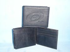 CAROLINA HURRICANES     Leather BiFold Wallet     NEW     black