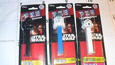 Pez  STAR WARS Set of 3 Darth Stormtroppers R2D2 NEW