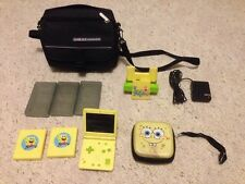 Nintendo Game Boy Advance SP SpongeBob Limited Edition Bundle! AGS-101 GBA