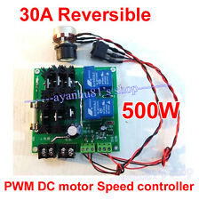 30A Reversible 12V-32V 500W PWM Regulator DC Motor Speed Control Controller 24v