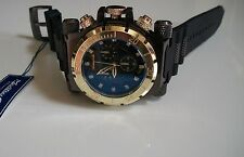 Designer Big Heavy  Black/Gold Finish Rubber Band Elegant Fashion Inspired Watch