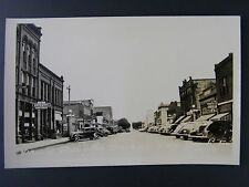 Rock Rapids Iowa IA Street View Coca Cola Sign Real Photo Postcard RPPC 1940s
