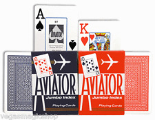 Aviator Jumbo Index Red & Blue Deck Set Playing Cards Poker Size USPCC Sealed