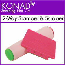 Konad Nail Art 2-Way Stamper and Scraper double sided Use with Image Plates