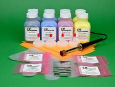 HP CM1415 CM1415fnw Two Sets of Four Color Toner Refill Kit w/ Hole-Making Tool