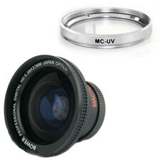 Bower 37mm 0.38x Wide Angle Lens + MCUV Filter for Sony Camcorder HDR-SR11,SR-12