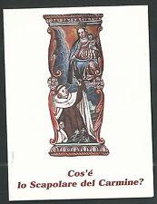Estampa  de la Virgen del Carmen andachtsbild santino holy card santini