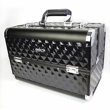 Professional Designer Vanity Case Beauty Storage Make up Box Heavy Duty Black