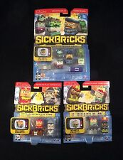 SICK BRICKS 3 SEALED & UNOPENED PACKS ACTION FIGURE VIDEO GAME 2015 SPIN MASTER