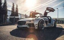 MERCEDES BENZ SLS AMG WIDE BODY AERO KIT LIP BUMPER SPOILER DIFFUSOR FENDERSKIRT