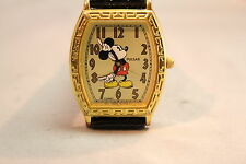 GREAT LOOKING PULSAR  MICKEY MOUSE WATCH GOLD TONE