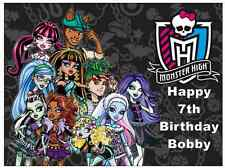 "Monster High Personalised A4 Cake Topper Edible Wafer Paper 7.5"" By 10"""