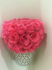 ELIXITA Centerpiece Wedding Table Decoration Center Flowers Silk Valentine Roses