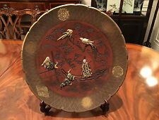 A Large and Important Japanese Mixed Metals Bronze Charger, Signed.