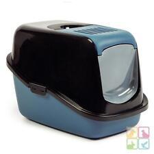 Katzentoilette extra Deckelöffnung Haubentoilette Katzenklo 'Clean Cat' blau