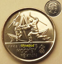 """CANADA COIN .25c VANCOUVER 2010 OLYMPICS """" WOMENS HOCKEY """" MOMENT #2 OF ALL TIME"""