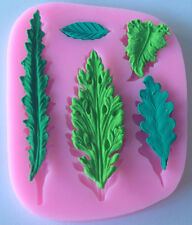 DIY Leaves Embosser Sugarcraft Silicone Mould Candy Cookie Cake Mania Mold Tools