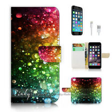iPhone 7 (4.7') Flip Wallet Case Cover P2248 Rainbow Colourful