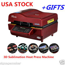 USA 110V FREESUB 3D Sublimation Heat Press Transfer Machine for Mugs Cup + GIFTS