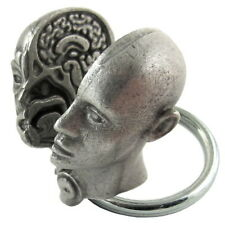 Human Head Keychain with Internal and External Anatomy