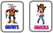 Cowboys & cowgirls Porte WC wc signes CAFE porte signe, pub porte signe