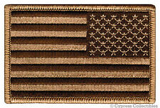 AMERICAN FLAG EMBROIDERED PATCH iron-on US DESERT TAN LEFT FACING uniform