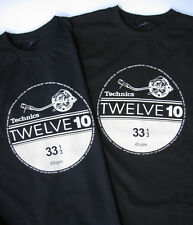 Technics 1210 for life, TWELVE 10 - Men`s T-Shirt - BLACK ( Size L, XL, XXL )