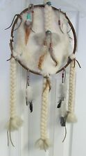 """Hand Crafted Beaded Mandala Dreamcatcher-Browns- 26""""Lx12""""W"""