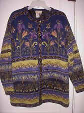 NWOT gorgeous fully lined COLDWATER CREEK / ICELANDIC DESIGN sweater jacket L