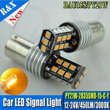 1x 12-24V SMD BAU15s 7507 PY21W LED Amber Car Bulb Light Tail Turn Signal CANBUS