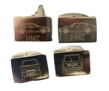 Engrave your Initials under your Car on Premium Metal Cufflinks