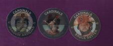1985 St Louis Cardinals Slurpee Discs Ozzie Smith Bruce Sutter Joaquin Andujar