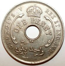 1 Penny British West Africa 1919 KN tirage 260.000