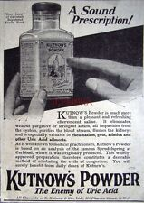 1926 'KUTNOW'S POWDER' Uric Acid Treatment ADVERT #2 - Small Chemist Print Ad
