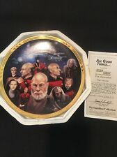 Star Trek All Good Things... Birdsong Hamilton Plate SP6 COA