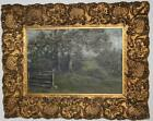 Antique Oil Painting on Canvas A Farm in Gilt Frame c1900 [PL935]