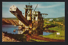 c1950 Gold Dredger metal mining near Ester Fairbanks Alaska postcard