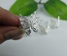Cute!!5pcs Beautiful NF 925 silver Plated Butterfly Rings 6-8