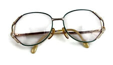 Euroline Exclusive Vintage Womens Wire  and Green Eyeglasses Italy 130 451 x39