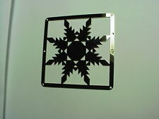 """Mini Barn Quit - Metal 2.5"""" Silver Color - Quilt Block - Feathered Star Pattern"""