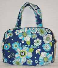 THIRTY ONE Foral CELEBRATION Cosmetic TRAVEL Bag HANDLE IT Blue GREEN Flower