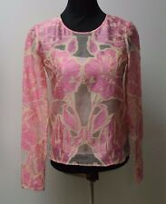 Temperley London Pale Pink Tula fil-coupe Blouse Tops Size 8.... ,  #*7