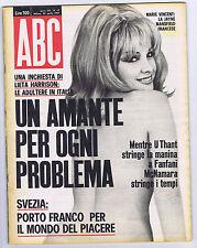 ABC N.  17, 1967 – Turby Von Sarck,GLI ALOGENI, Dany Saval, Marie Vincente