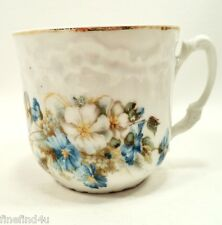 Vtg Mustache Cup Floral Bouquet Embossed Pattern Around Cup Ships FREE